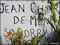A shrine to Jean Charles de Menezes in London