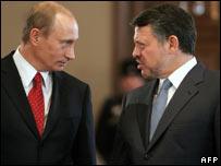Russian President Vladimir Putin and King Abdullah II of Jordan
