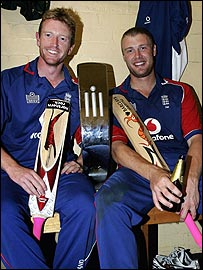 Paul Collingwood and Andrew Flintoff