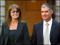 Tommy Sheridan and his wife Gail