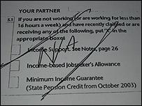 Sanna Wennberg's tax credit application.