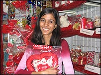 Chocolate seller in New Delhi