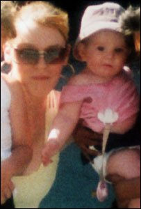 Casey Mullen with her mother, picture Ross Parry