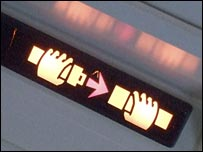 Plane cabin sign
