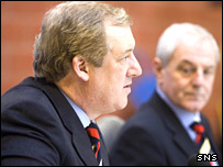 Rangers chairman David Murray (left) and new boss Walter Smith