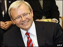 Australia's Labor Party leader Kevin Rudd
