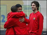 Eto'o y Ronaldinho