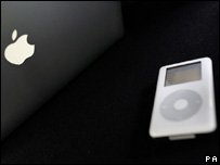 Apple logo and iPod, PA