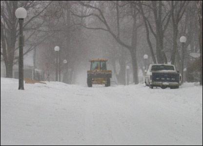 Snow in Urbana, Illinois