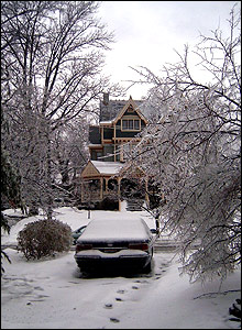 Snow and ice in Cincinnati, Ohio
