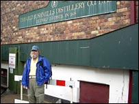 US tourist Tom Brennan at Bushmills Distillery