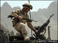 Canadian soldier in Afghanistan