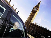 Ministerial car leaves Parliament