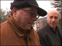 Greg Palast (right) and Michael Sheehan