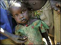 Chadian child refugee (file photo)