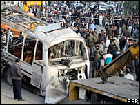 Bus bombing in Iran