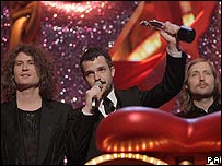 The Killers at the Brit Awards