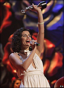 Nelly Furtado at the Brit Awards