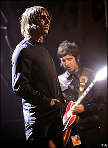 Liam (left) and Noel Gallagher of Oasis.