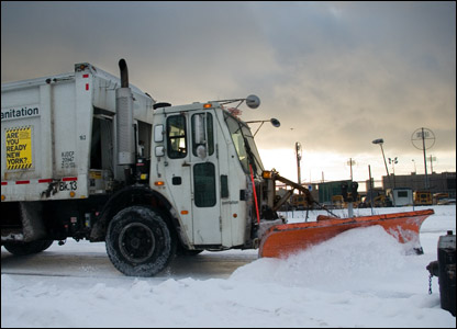 Snow clearing in Brooklyn, NYC: photo from Adrian Kinloch