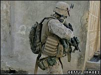 A US soldier in Iraq. File photo
