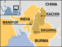India-Burma border Map