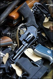 Guns collected by Scotland Yard
