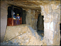 Inside the Combe Down Stone Mines