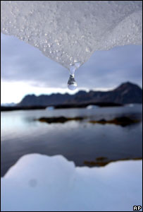 Ice melting in Greenland  Image: AP