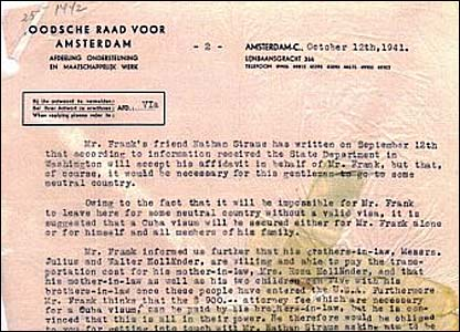 Dutch Jewish Council memo dated October 1941. (YIVO Institute of Jewish Research)