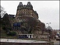 The St Nicholas Cliff lift