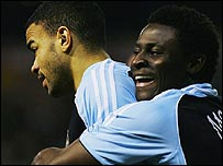 Kieron Dyer and Obafemi Martins