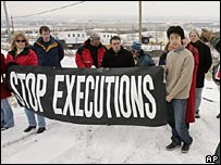Amnesty International protest against the death penalty