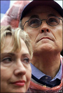 Rudy Giuliani and Hilary Clinton