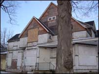 Boarded up house, Flint, MI