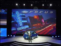 Mark Fields launching the Ford Focus, Detroit Motor Show