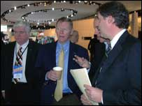 Alan Mulllaley, Ford boss, touring Detroit Motor Show