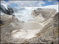 The Qori Kalis Glacier