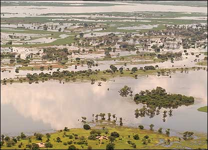 River Zambezi and flood plains