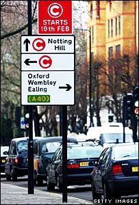 Congestion charge expansion sign