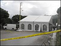Tents in Ain Aalaq