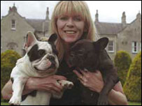 Jayne Hayes with Cracker (left) and Hermes (right)