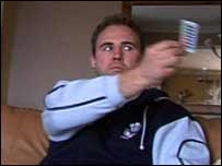 Scott Quinnell doing one of the Dore programme exercises
