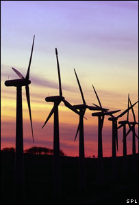 Wind turbines (Image: Science Photo Library)