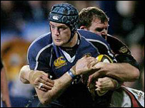 Trevor Hogan is tackled at Donnybrook