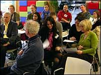 Teachers from schools in and around London at the BBC's Twenty-first Century Classroom