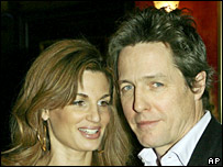 Jemima Khan and Hugh Grant at last week's New York premiere of Music and Lyrics