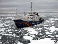 Greenpeace ship Esperanza