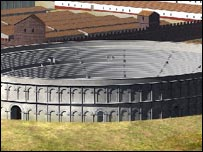 Artist's impression of Chester amphitheatre (Julian Baum)