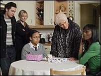 A scene from EastEnders